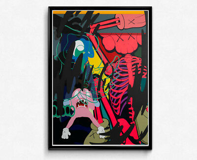 Kaws Inspired Abstract Graffiti Poster Hypebeast Poster Supreme Kaws  Street Art