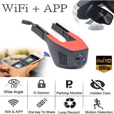 WIFI APP Car Hidden DVR Camera 1080P Dash Cam Digital Video Recorder Camcorder