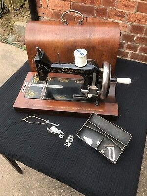 COMPACT HALF SIZE Vintage Gamages Sewing Machine Bentwood Case With Enchanting Gamages Sewing Machine