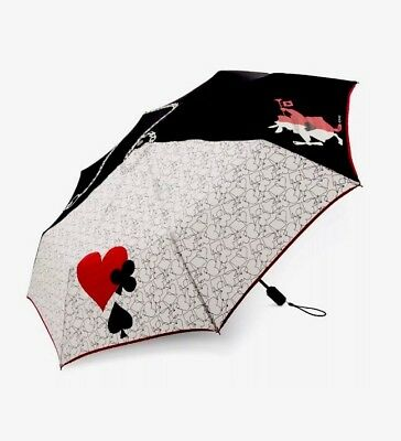 Disney Vera Bradley Alice In Wonderland Painting The Roses Red Compact Umbrella