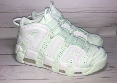 NIKE WOMEN AIR More Uptempo 96 Barely GreenWhite 917593 300