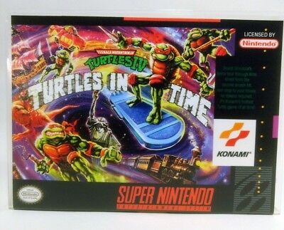 TMNT Turtles in Time -SNES- Super Nintendo Replacement CASE *NO GAME*