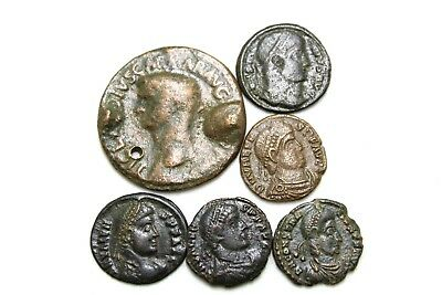 SIX LATER ROMAN IMPERIAL COINS.   1v673