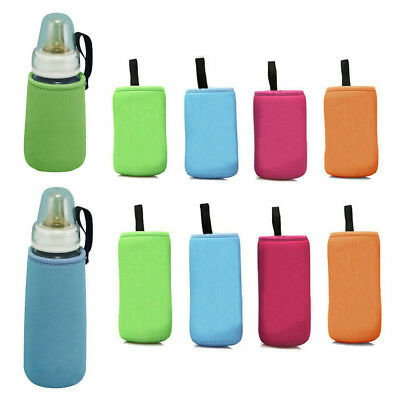 Insulate Baby Bottle Carrier Cushion Thermal Warmer Bag Kid Cup Cover Feeding