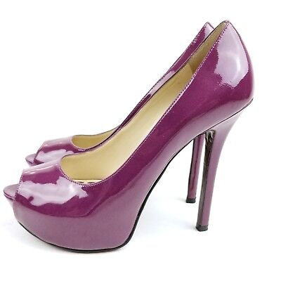 af4abe9b8fd ENZO ANGIOLINI PATENT Leather Peep Toe Bow Back Shoes size 7 - $9.99 ...
