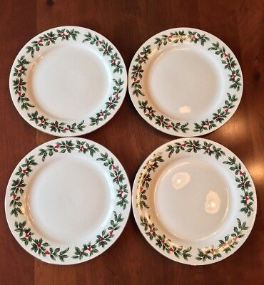 FORMALITIES BY BAUM Bros Holly Collection china dinner plates set of ...
