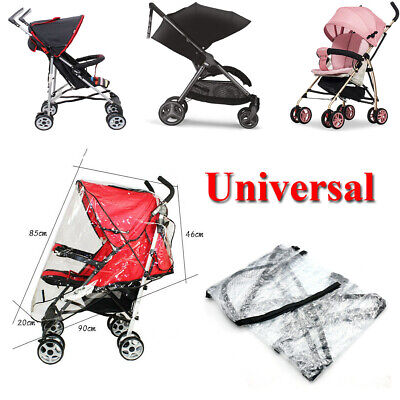 Universal Clear Baby Pushchair Pram Stroller Buggy Rain Cover shade Wind Protect