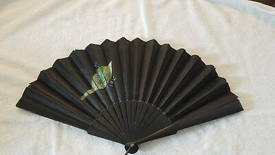 Japanese antique hand painted silk fan