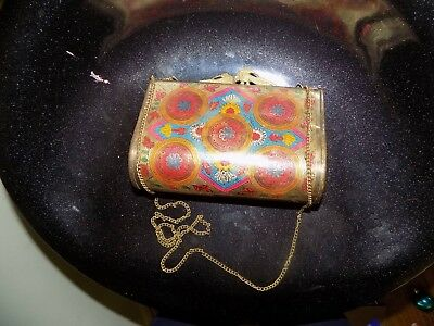 Antique 1900s Collectible Rare Hand Crafted Brass Peacock Purse