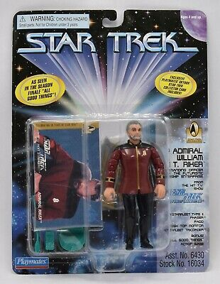 Star Trek TNG The Next Generation Admiral William T. Riker NEW Playmates 1996