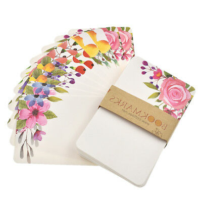 50pcs Flower Pattern Card Paper Greeting Cards Birthday Wedding Supply Decor DIY