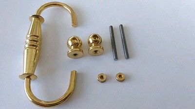 Brass Handle 86x44mm 36mm Hole Distance