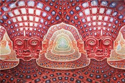 Trippy Alex Grey Abstract Silk Art Print Poster 36''x24''inch 03