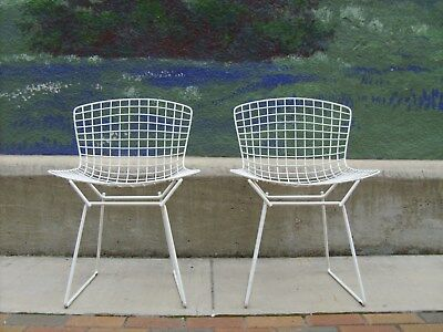 Bertoia For Knoll International Wire Chairs (2) Mid Century Modern Eames  Retro