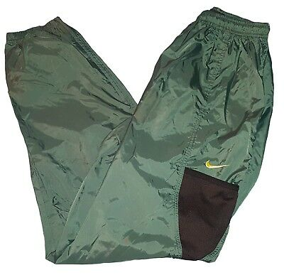 Vtg 90s Nike Green Nylon Windbreaker Sweatpants Size YOUTH 2XL A5
