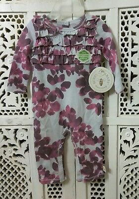 Burt's Bees Cotton Organic Baby Jumpsuit Sleepers Nwt