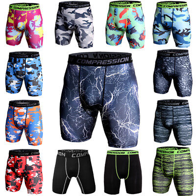Men's Compression Shorts Pants Athletic Tights Gym Running Base Layer Underwear
