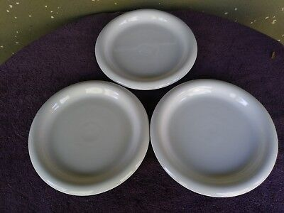 "Boda Nova Sweden White Dinner Plates 11"" Set of 3"