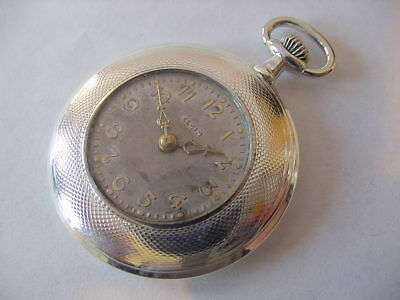 BEAUTIFUL STERLING SILVER 925 FANCY DIAL ANTIQUE POCKET WATCH NO Reserve Auction
