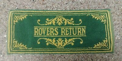"Vintage Rovers Return Bar Towel Coronation Street Green 18""x8"" Great Condition"