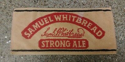 "Samuel Whitbread Bar Pub Towel 18""x9"" Used Condition Man Cave"