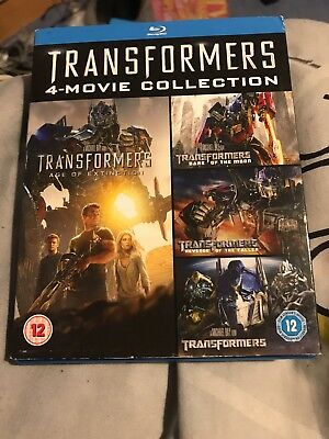 Transformers Quadrilogy 1 -4 Blu Ray Box Set Part 1 2 3 4  Collection, New