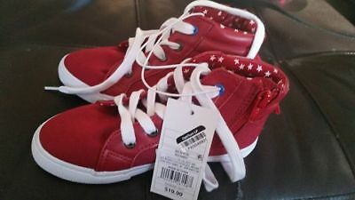Cat & Jack red sneakers size 11 & 12