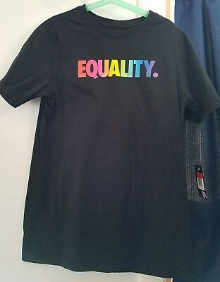 43f8ae02 VERY RARE NIKE EQUALITY BE TRUE PRIDE Boys Size Medium T SHIRT ...