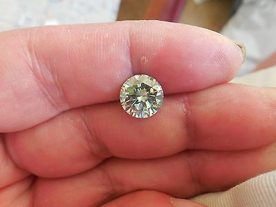 Fiery 2.83 ct Pale Green Color Round Loose Moissanite VVS1 9.60 mm