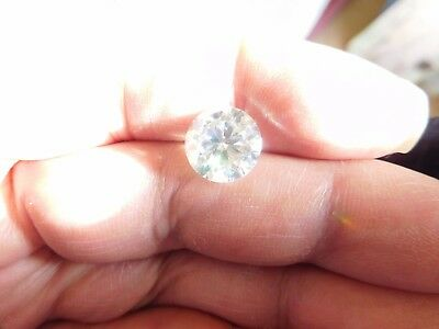 Fiery 4.51 ct White G - H Color Round Loose Moissanite VVS1 10.80 mm