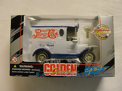 Golden Classic Pepsi Die Cast Die Cast Coin Bank 1996