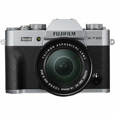 Fujifilm X-T20 Mirrorless Digital Camera with 16-50mm Lens Silver PX