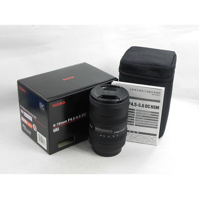 Sigma 8-16mm F/4.5-5.6 DC HSM Ultra-Wide Zoom Lens Sony A Mount PX