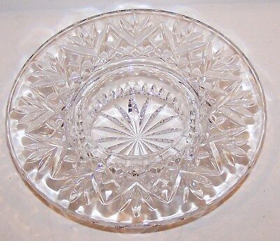 Beautiful Signed Waterford Crystal Bethany Pillar Candleholder