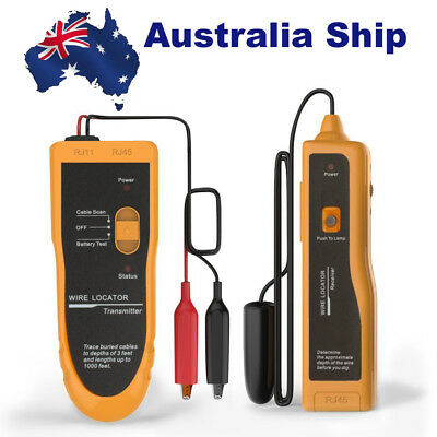 AU Ship KOLSOL F02 Underground Cable Wire Locator Tracker Lan With Earphone