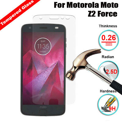 9H Tempered Glass Premium Screen Protector Cover Film For Motorola Moto Z2 Force