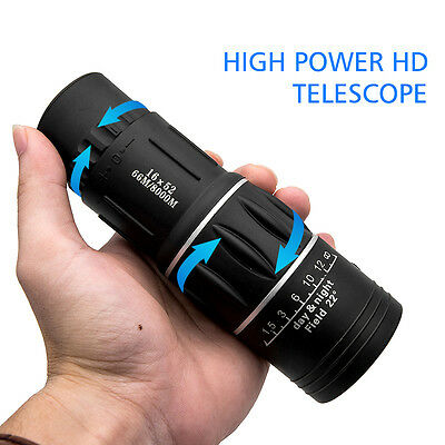Mini Pocket Compact Monocular Telescope 16X52 HD Camping Hunting Sports Hiking