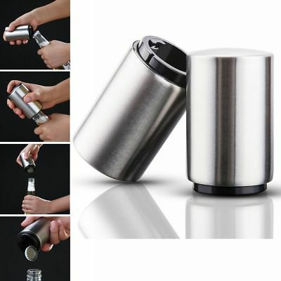 Portable Automatic Magnetic Bottle Opener Stainless Steel Push Down Beer Openers