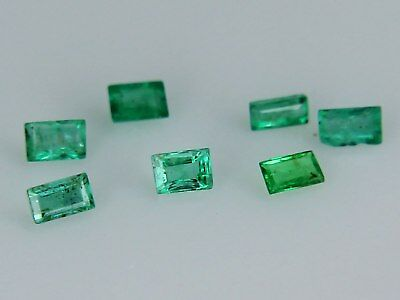 Natural Emerald 3x2mm 4x2mm 3x2.5mm 2x1.5mm Step Loose Gemstone Best Green VS