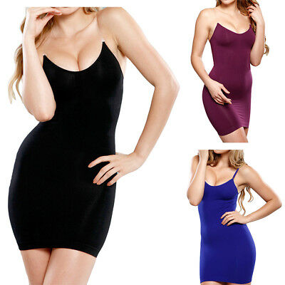 2e033b48a7eec Womens Full Body Slip Cami Seamless Slimming Control Shapewear Dress Body  Shaper
