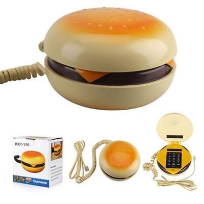 Lovely Novelty Hamburger Shape Telephone Desktop Wired Corded Phone Home Funny