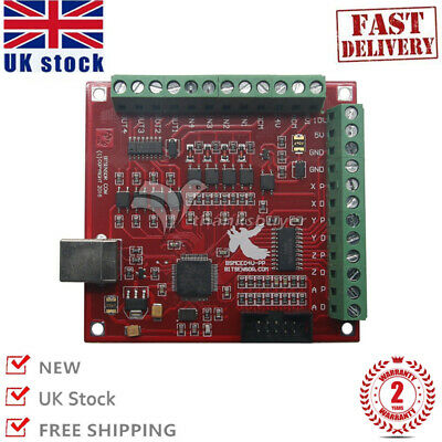 USB MACH3 100Khz Breakout Board 4 Axis Interface Driver Motion Controller CNC UK