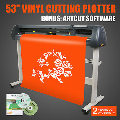 "53"" Vinyl Sign Sticker Cutter Plotter Contour Cut Function With Stand Software"
