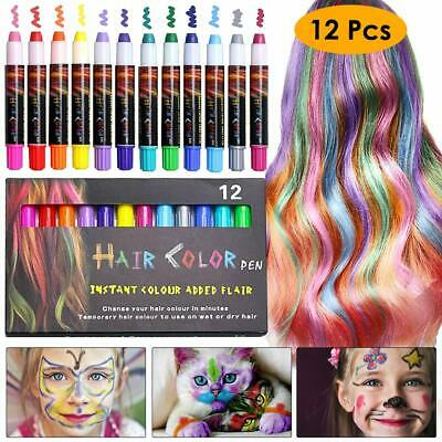 36 Colors Temporary Hair Chalk Set Non-Toxic Rainbow Colored Dye Pastel Kit HOT