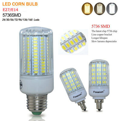 E27 E14 LED Corn Bulb 2.5W 3W 5W 7W 9W 12W 15W Light 5736 SMD White Lamp 220V