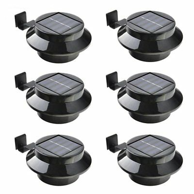 Solar Powered Gutter Fence Light Outdoor Garden Yard Pathway Security Lamp 3 LED
