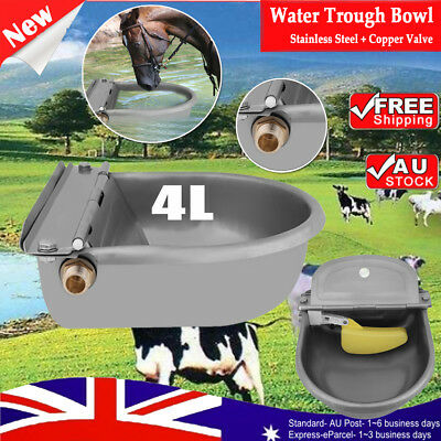 AUTOMATIC VALVE WATER TROUGH BOWL DRINKING For CHICKEN SHEEP DOG HORSE AUTO FILL