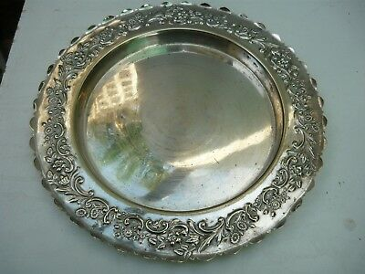 Antique (1896) hallmarked Chatterley EP round platter in very good condition