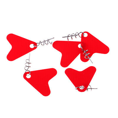 5x Sea Fishing Spinner Blades Sequins Baits Metal Hard Bait w/Centering Pin