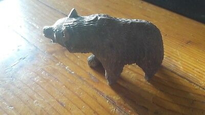 VINTAGE BLACK FOREST BEAR - GERMAN CARVING WOODEN BEAR - Excellent Condition